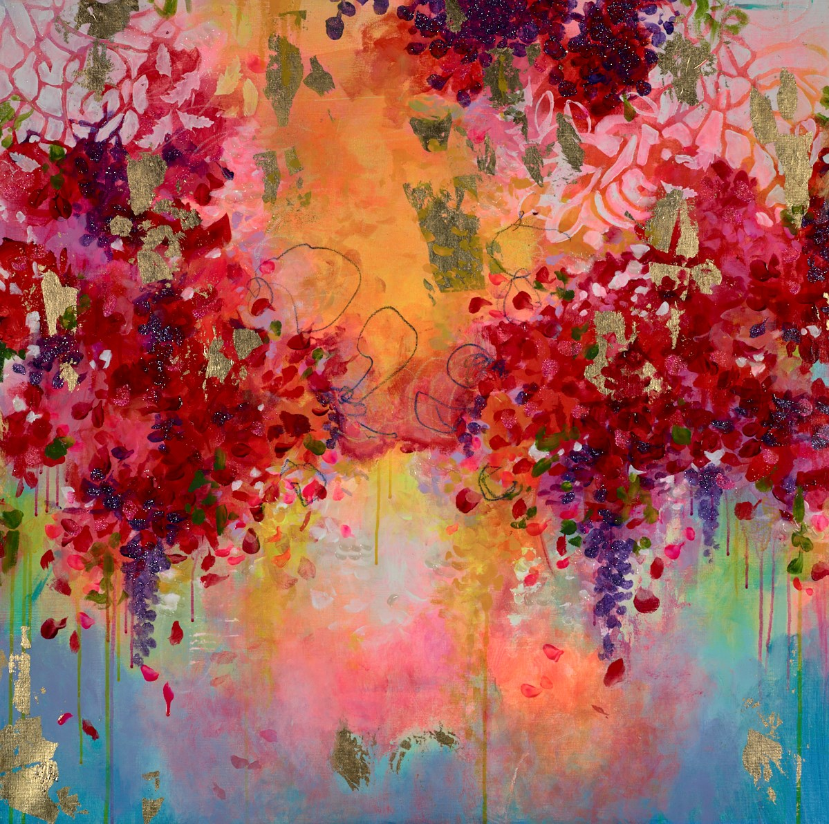 Gold Passion by amylee paris -  sized 39x39 inches. Available from Whitewall Galleries